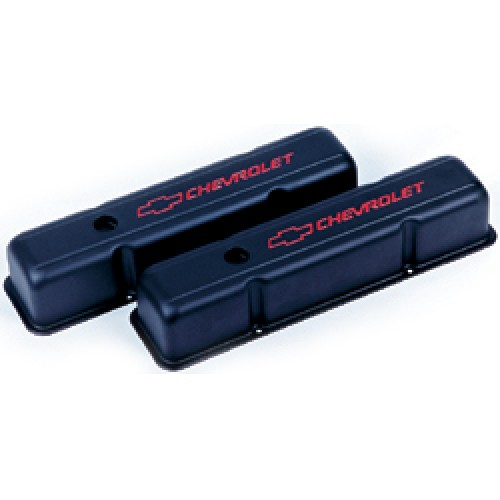 SBC Black Steel Valve Covers
